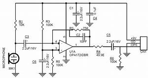 Low noise mini electret microphone preamplifier for Microphone amplifier circuit low noise microphone preamplifier circuit