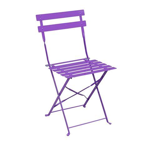 chaises pliantes de jardin lot de 2 chaises de jardin pliantes camargue violet