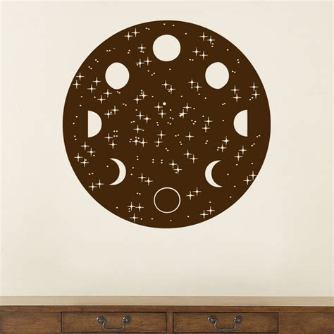 Lunar Cycle   Moon Phases Wall Decal Sticker Graphic