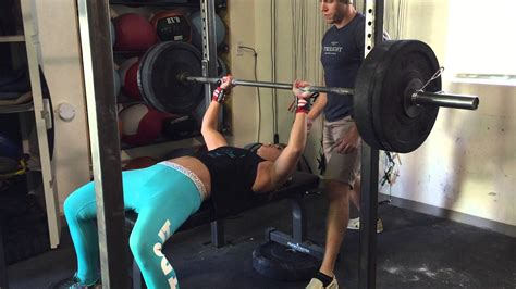 160lb Bench Press By 130lb Female Youtube
