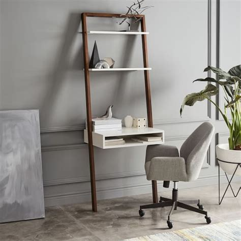 ladder shelf desk whiteespresso west elm