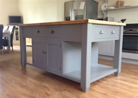 free standing island kitchen units painted free standing kitchen island unit ebay