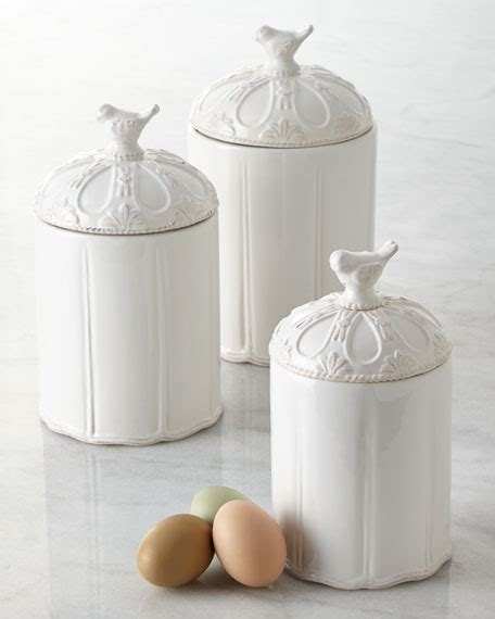 mud pie  piece bird canister set