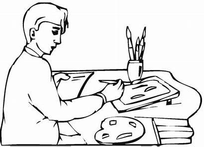Coloring Pages Colouring Artist Painter Artists Picolour