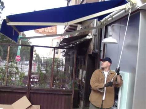 adjustable pitch retractable awning quayle awnings youtube
