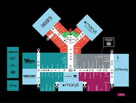 barnes and noble southcenter mall map of columbia center a simon mall kennewick wa