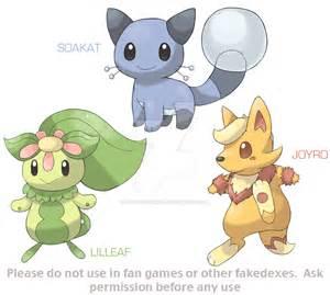 Fakemon Starters