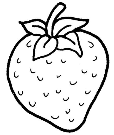 mewarnai gambar buah strawberry untuk anak tk dan paud