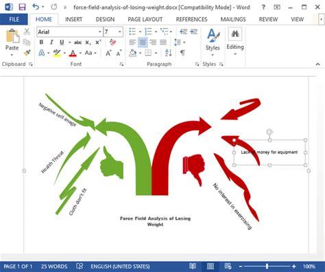 force field analysis diagram  word