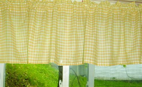 yellow gingham window valances
