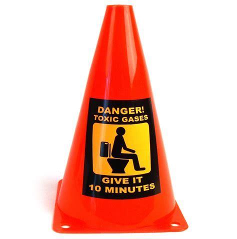 Caution Cone Danger Toxic Gases   Pink Cat Shop