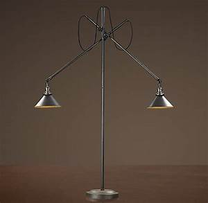1900s machinist double arm floor lamp floor With restoration hardware floor lamp glass