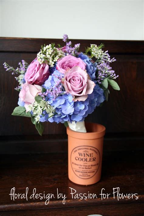 Light Blue And Purple Wedding Flowers Wedding Bouquets