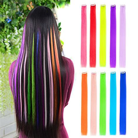 cheap colored hair extensions  gifts top toys