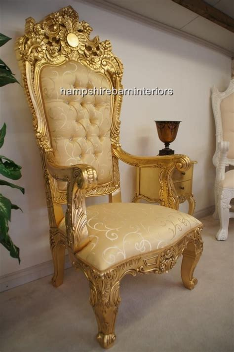 emperor rose large ornate throne chair hampshire barn