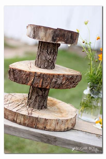Rustic Stand Cupcake Wood Diy Stands Decor