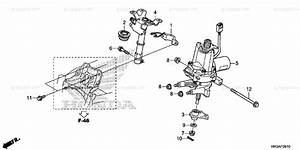 Honda Atv 2015 Oem Parts Diagram For Steering Shaft  Eps
