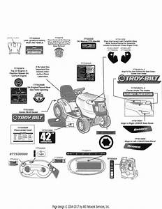 Wiring Diagram  12 Troy Bilt Bronco 42 Deck Belt Diagram