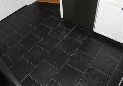 Black Tile Kitchen Floor  New Jersey Custom Tile