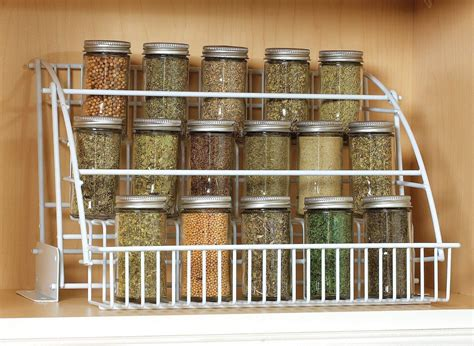 spice holder for cabinet rubbermaid pull down spice rack organizer shelf cabinet