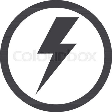 thunder icon lightning vector stock vector colourbox
