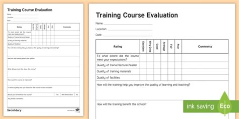 sen training  evaluation form senco secondary