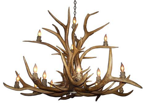 real antler two tier elk chandelier elkinvt 2 antler
