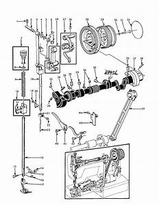 Needle Bar Diagram  U0026 Parts List For Model 15816250 Kenmore