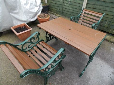 Buy Garden Table And Chairs by Beautiful Style Heavy Cast Iron Garden Set