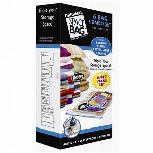 Shop Space Bag 6-Count Plastic Storage Bags at Lowes com