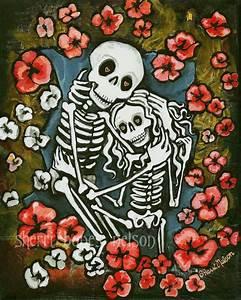 Skeletons in Love Art Poster Anniversary Wedding ...