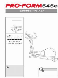 Download Proform Home Gym 545e Manual And User Guides