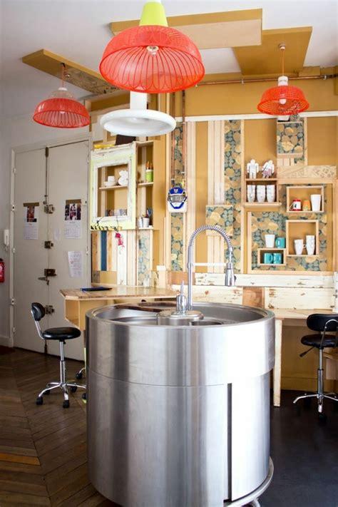 Cuisine Ilot Central Evier by La Cuisine 233 Quip 233 E Avec Ilot Central 66 Id 233 Es En Photos