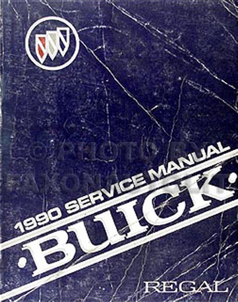 auto repair manual online 1990 buick electra free book repair manuals 1990 buick regal repair shop manual original