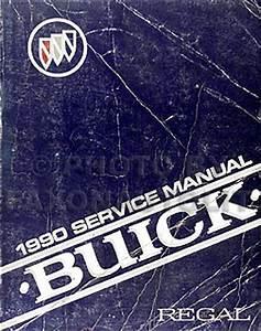 1990 Buick Regal Repair Shop Manual Original