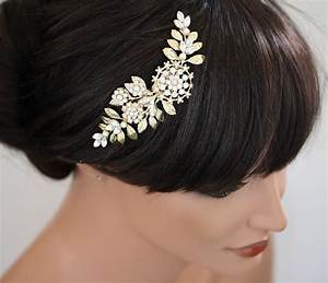 Gold Wedding Hair Piece Bridal Hair Comb Vintage By