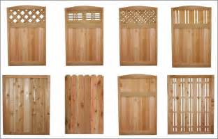 Styles of Wood Privacy Fence Panels