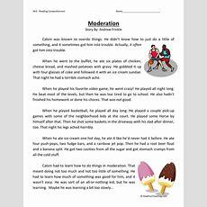 Reading Comprehension Worksheet Moderation