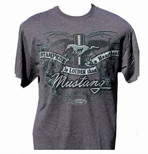 Ford mustang stampede t shirt in grey – The Mustang Trailer