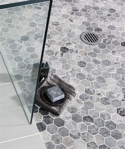 grey hexagon floor tile 40 gray hexagon bathroom tile ideas and pictures