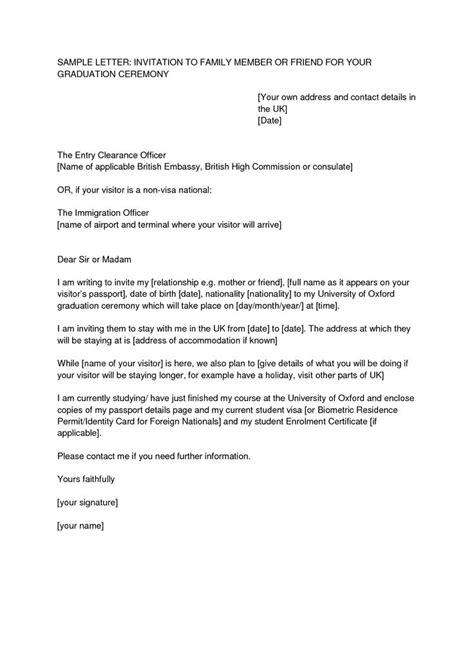 Letter Of Invitation For Uk Visa Template Resume Template