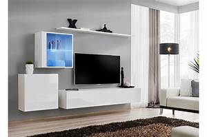 Meuble Tele Moderne : ensemble meuble tv design costa 15 cbc meubles ~ Teatrodelosmanantiales.com Idées de Décoration