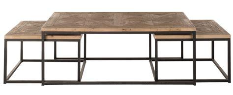 table basse metal et bois id 233 es de d 233 coration int 233 rieure