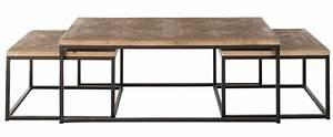 Table Bois Et Fer : table basse en fer et bois 13 id es de d coration ~ Premium-room.com Idées de Décoration
