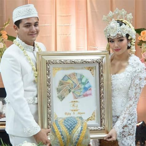 rizky alatas  adzana bing slamet resmi menikah maharnya unik matamatacom
