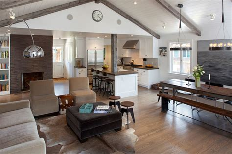 decorate open kitchen living room  dining room
