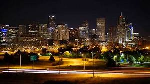 Denver  Co Downtown Night Skyline Time