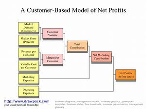 Customer Based Model Of Net Profit Business Diagram