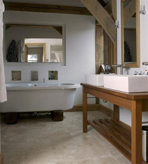 badezimmer ablage holz waschtisch aus holz und andere rustikale badezimmer ideen