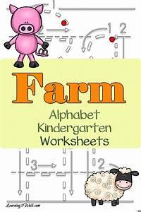 farm alphabet kindergarten worksheets With farm alphabet letters
